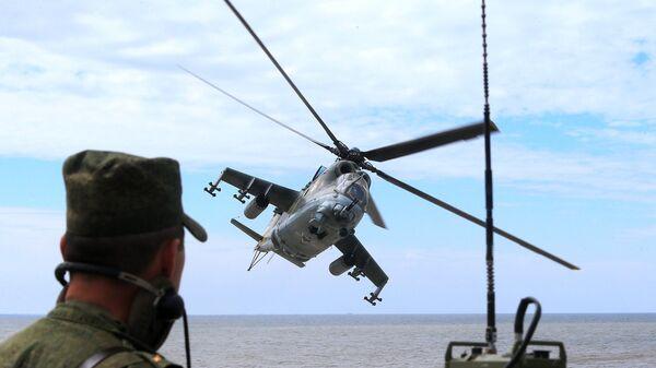 Военнослужащий морской пехоты береговых войск ВМФ. Архивное фото
