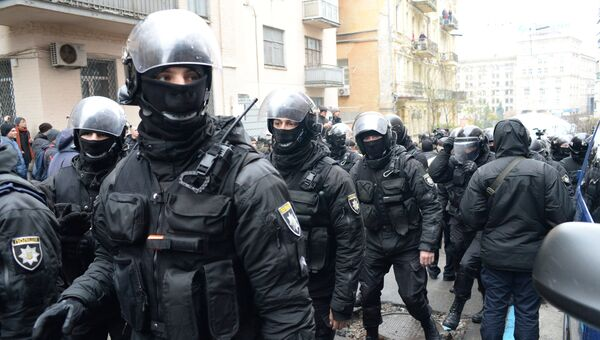 Сотрудники правоохранительных органов Украины. Архивное фото