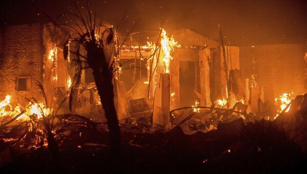 Лесной пожар в Калифорнии. Архивное фото