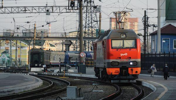 Поезда на станции. Архивное фото