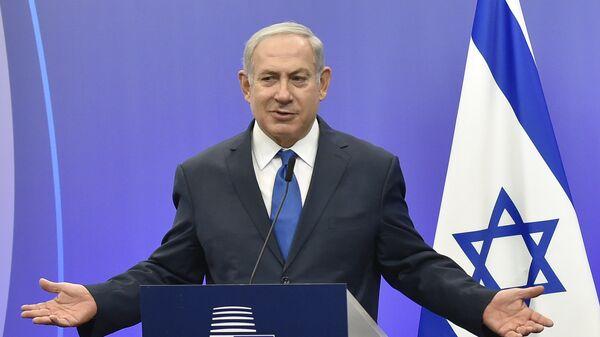 Премьер-министр Израиля Биньямин Нетаньяху на пресс-конференции в Европейском совете в Брюсселе. 11 декабря 2017
