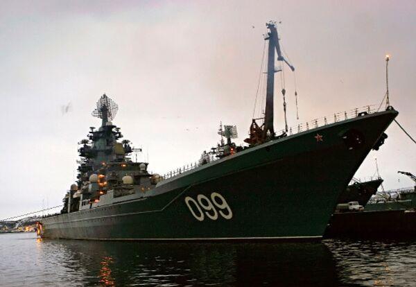 Ракетный крейсер Пётр Великий. ВМФ РФ