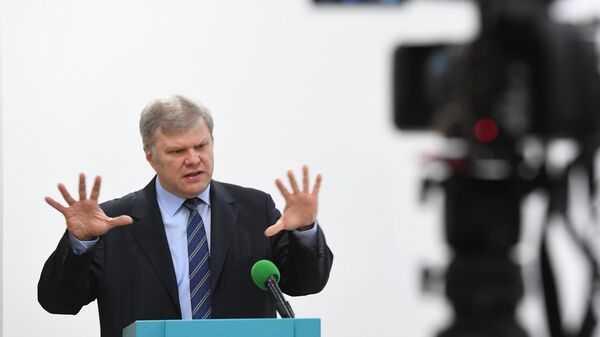 Глава московского отделения партии Яблоко Сергей Митрохин. Архивное фото