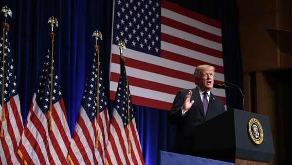 Президент США Дональд Трамп в Вашингтоне. Архивное фото