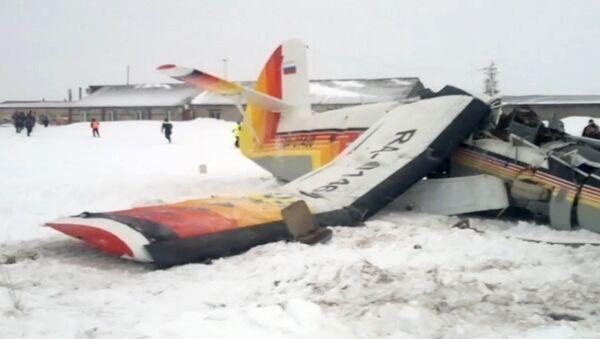 Последствия крушения самолета в Нарьян-Маре. 19 декабря 2017