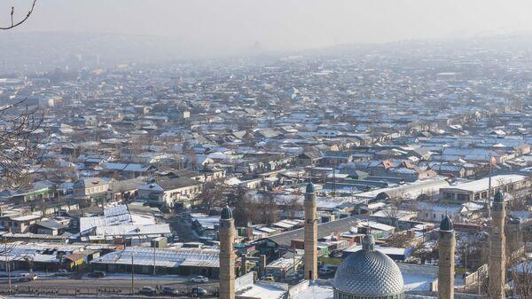 Вид на город Ош с горы Сулейман-Тоо