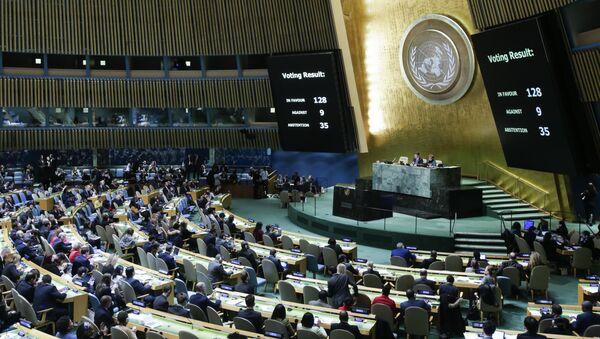 Голосование в Генеральной Ассамблее ООН по вопросу Иерусалима. 21 декабря 2017 год