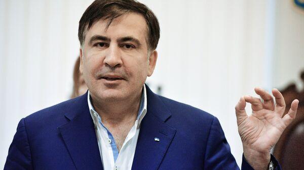 Михаил Саакашвили на заседании Апелляционного суда в Киеве. 22 декабря 2017