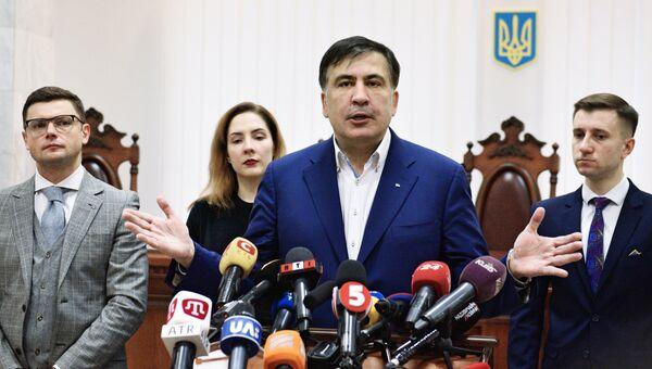 Михаил Саакашвили в здании суда в Киеве. 22 декабря 2017