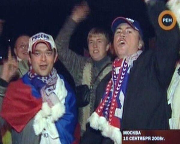 Россияне играют и выигрывают: футбольный матч Россия - Уэльс