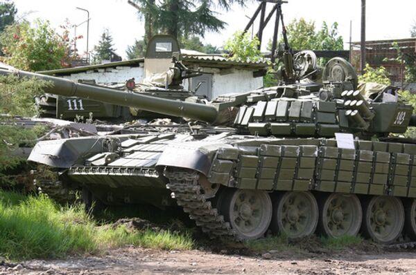 Танк Т-72 в Южной Осетии. Архив