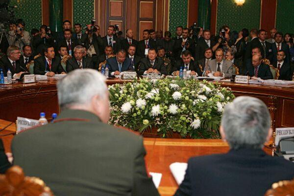 Заседание глав государств Организации Договора о коллективной безопасности (ОДКБ)