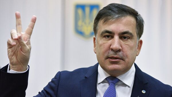 Михаил Саакашвили в Апелляционном суде в Киеве. 3 января 2018
