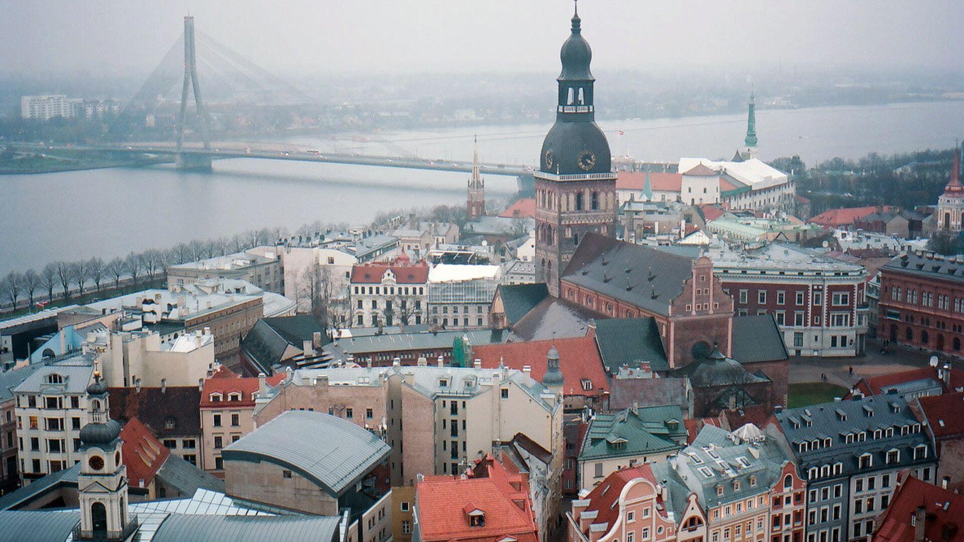 Колокольня Домского кафедрального собора в Риге в Латвии - РИА Новости, 1920, 29.05.2021