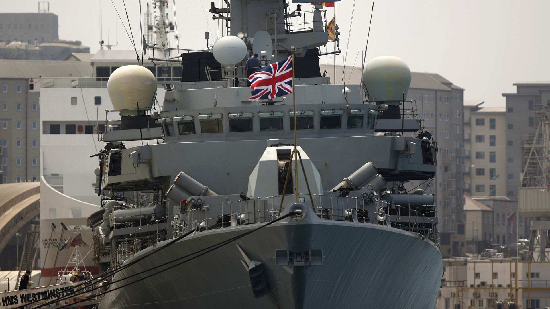 Британский военный корабль ВМС Westminster  - РИА Новости, 1920, 17.07.2021