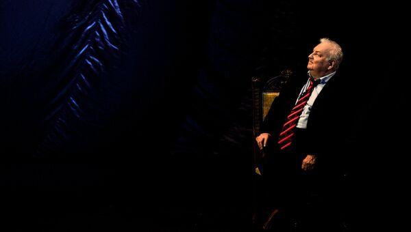 Актер Михаил Державин на своём юбилейном вечере Любимый МихМих! Тебе 80! в Театре сатиры