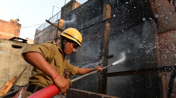 Индийский пожарный. Архивное фото