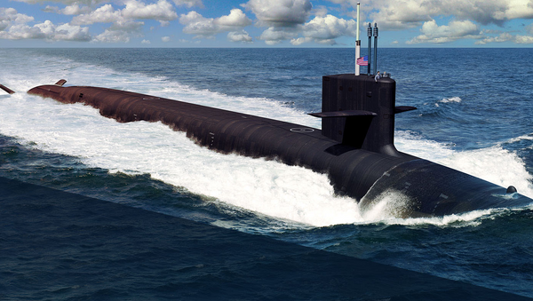 Рисунок подводной лодки класса Columbia