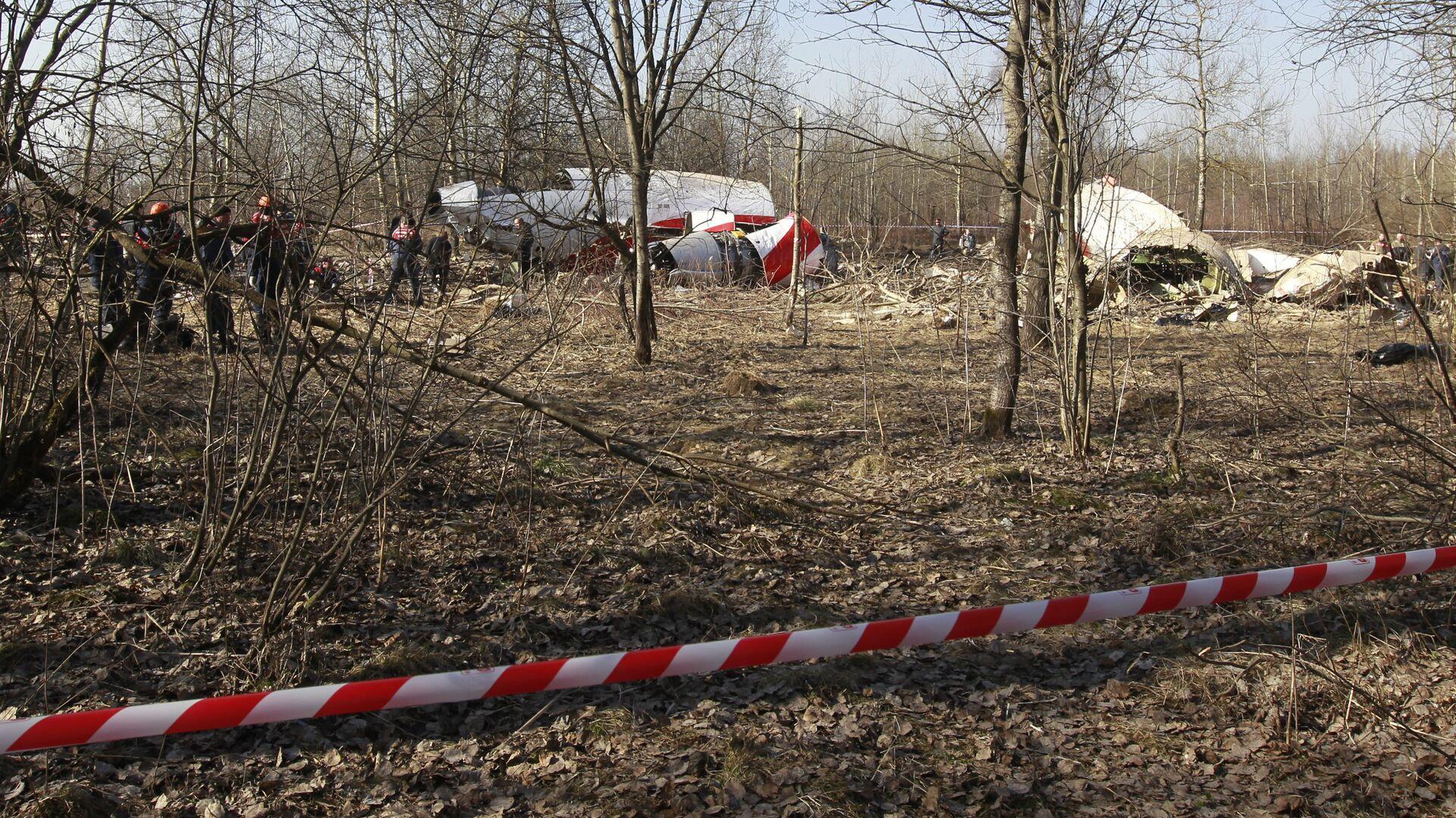 Место падения польского самолета Ту-154 - РИА Новости, 1920, 25.11.2020