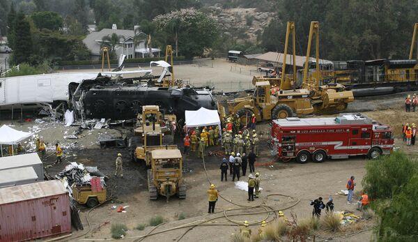 Железнодорожная катастрофа в пригороде Лос-Анджелеса