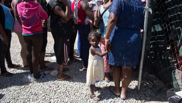 Мигранты из Гаити на границе Мексики и США в Тихуане. Архивное фото