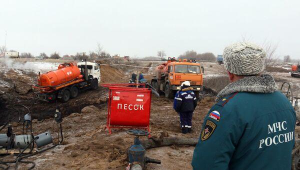 В Саратовской области ведутся работы по устранению последствий порыва магистрального нефтепровода. 19 января 2018