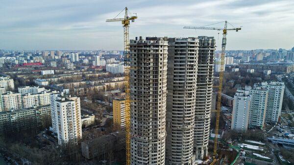 Строительство жилых домов на Профсоюзной улице в Москве