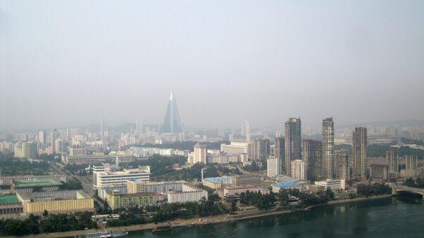 Вид на центр Пхеньяна. Архивное фото