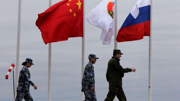 Российско-китайские военно-морские учения Морское взаимодействие на полигоне Клерк в Приморском крае