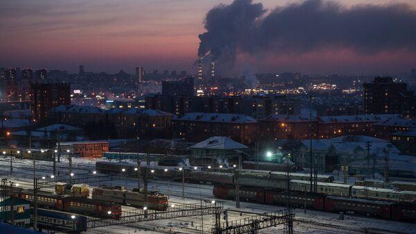 Поезда на станции Новосибирск-главный в Новосибирске