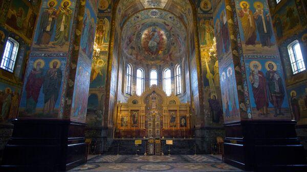 Мозаичные интерьеры собора Спаса на Крови в Санкт-Петербурге