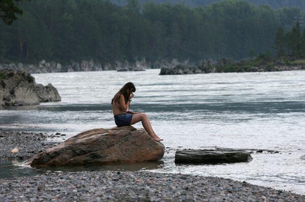 В одиночестве на побережье