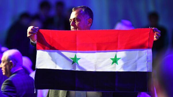 Участник конгресса сирийского национального диалога в Сочи. 30 января 2018