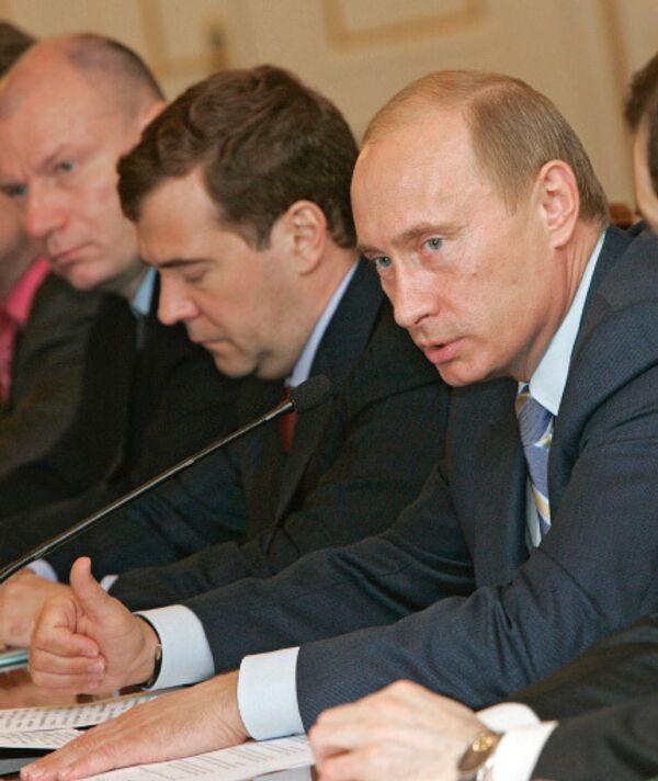 Владимир Путин, Дмитрий Медведев