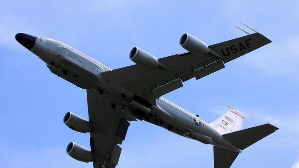 Американский самолет Boeing RC-135 на британской базе Милденхолл
