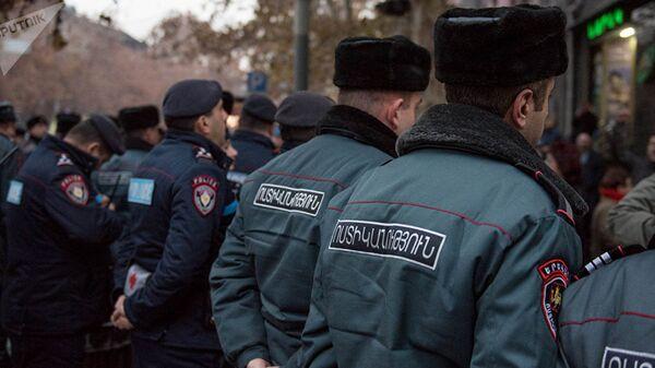 Сотрудники полиции в Армении. Архивное фото