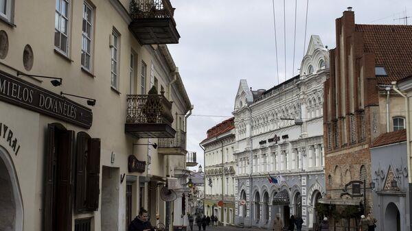 Одна из улиц старого города в Вильнюсе