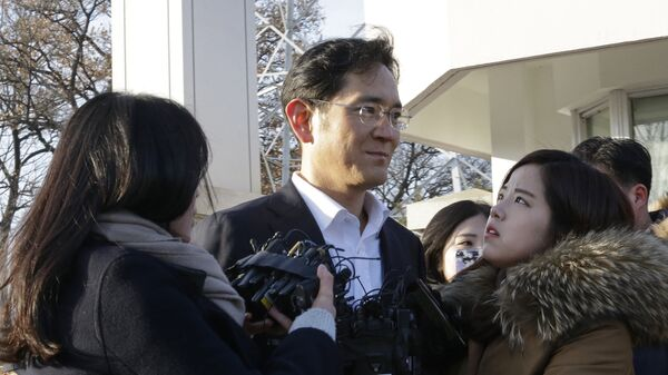 Вице-президент Samsung Electronics Ли Чжэ Ён отпущен на свободу, Южная Корея. 5 февраля 2018