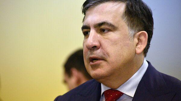 Михаил Саакашвили в Киевском апелляционном административном суде. 5 февраля 2018. Архивное фото