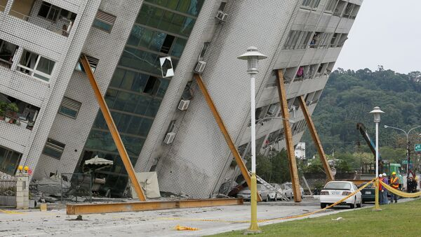 Ликвидация последствий землетрясения в уезде Хуалянь на Тайване. 7 февраля 2018