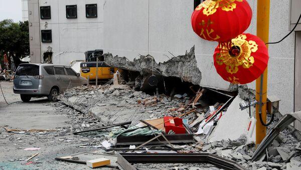Последствия землетрясения в уезде Хуалянь на Тайване