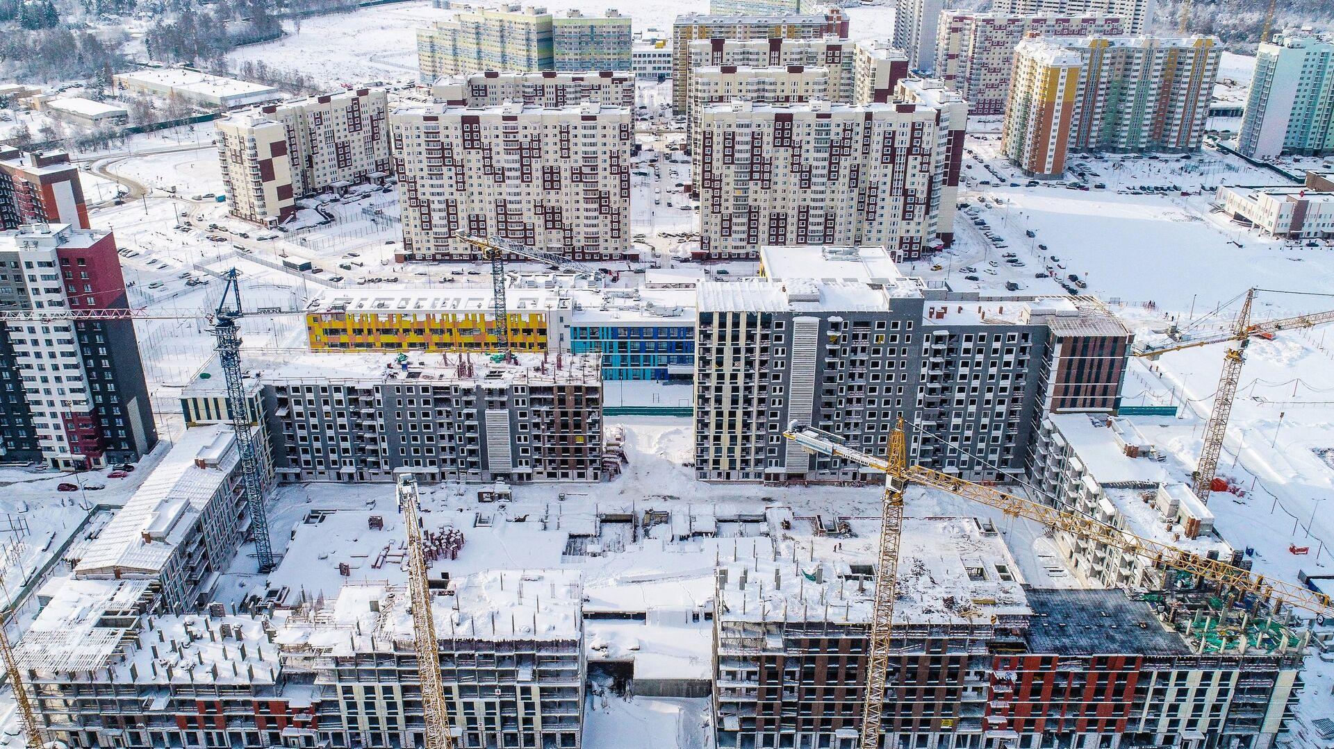 Строительство домов в Новой Москве - РИА Новости, 1920, 10.03.2021