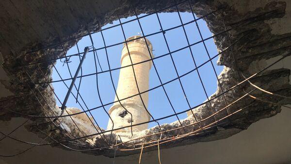 Поселение Дженджерес в кантоне Африн на севере Сирии после авиационного и артиллерийского обстрела со стороны Вооруженных сил Турции. Архивное фото