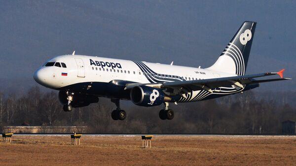 Самолет Airbus A319 авиакомпании Аврора