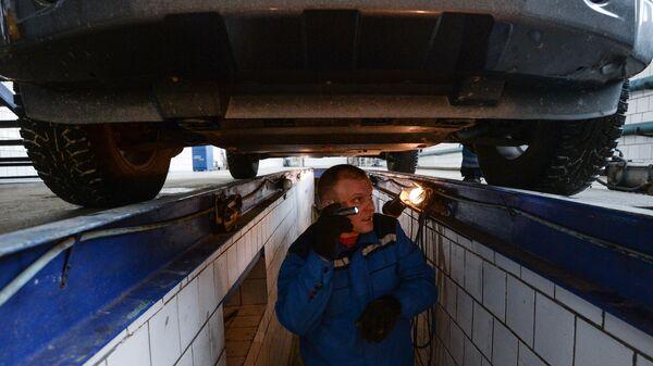 Технический осмотр автомобилей