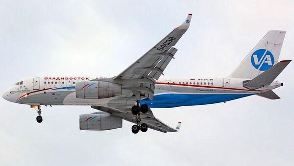 Самолет авиакомпании Владивостокавиа. Архивное фото