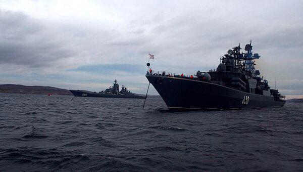 Атомный ракетный крейсер Петр Великий. Архив