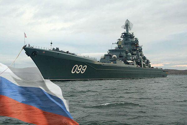 Флагман Северного флота, атомный ракетный крейсер Петр Великий