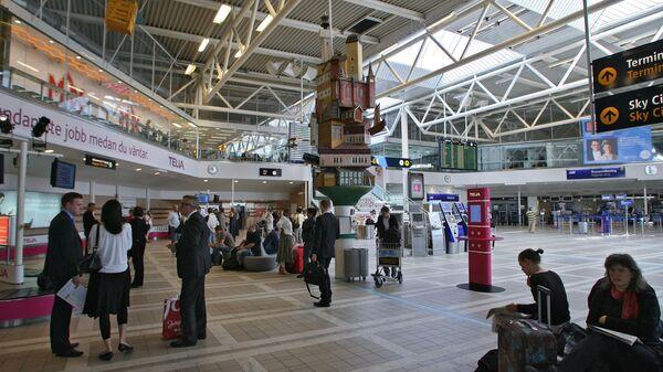 В зале крупнейшего международного аэропорта Швеции Стокгольм-Арланда