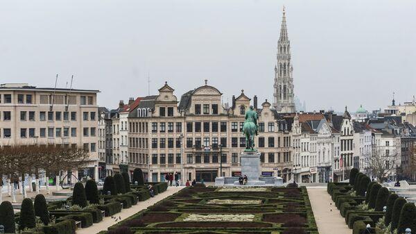 Вид на одну из улиц Брюсселя, Бельгия